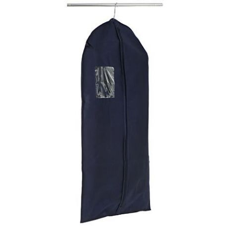 Boys Navy Blue Hanging Bedroom Clothes Storage Bag Cover